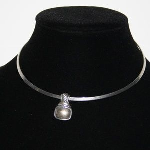 Vintage Silver Collar necklace with pendant